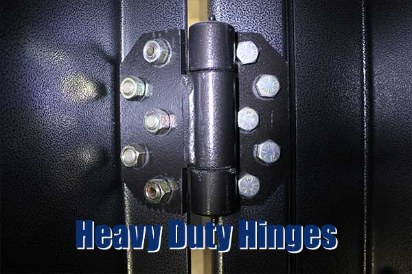 "1"" Heavy duty, double shear door hinges - equivalent strength to 2 -1"" barrel hinges"